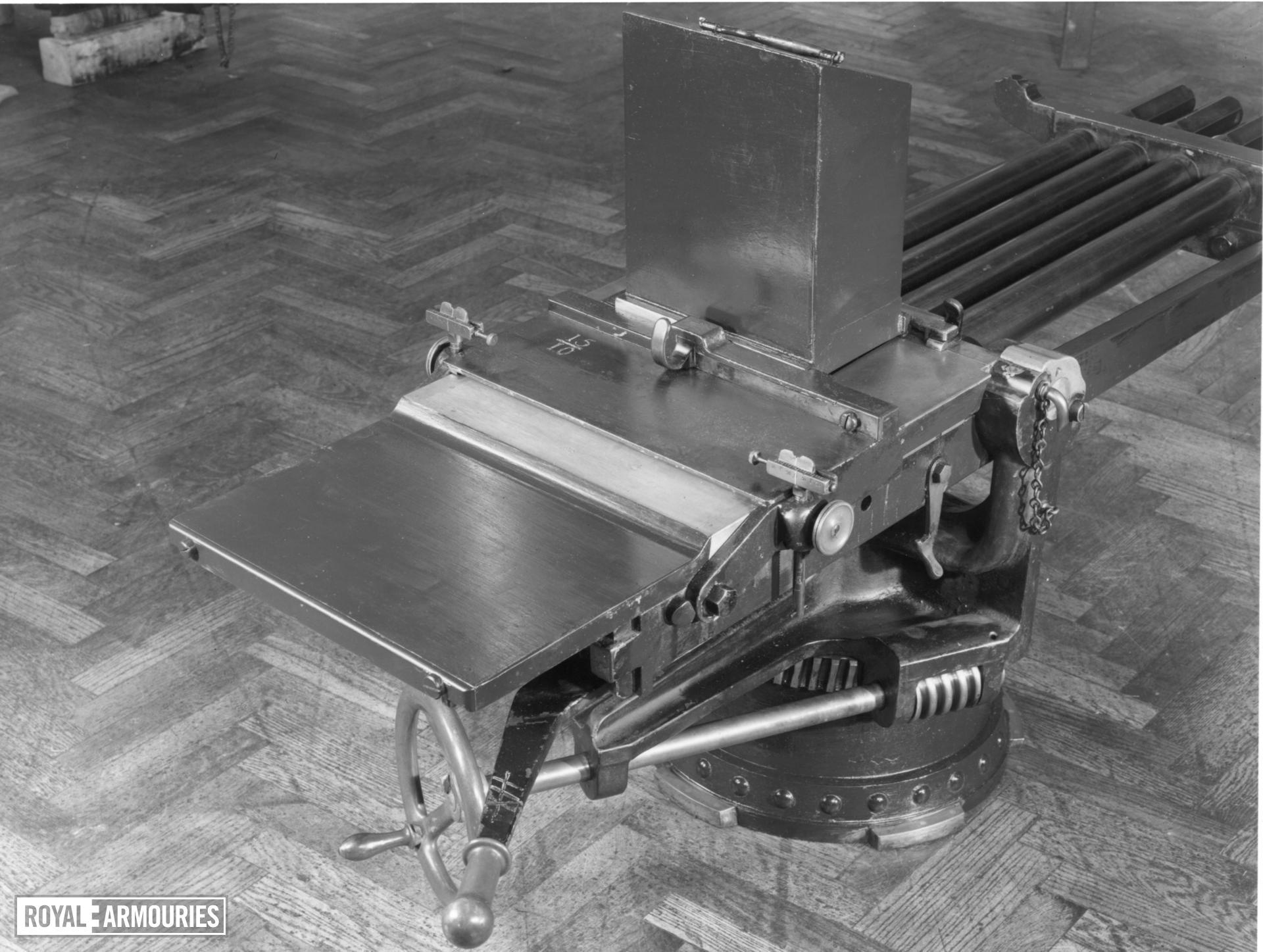 Centrefire hand operated machine gun - Nordenfelt Four barrelled heavy calibre model