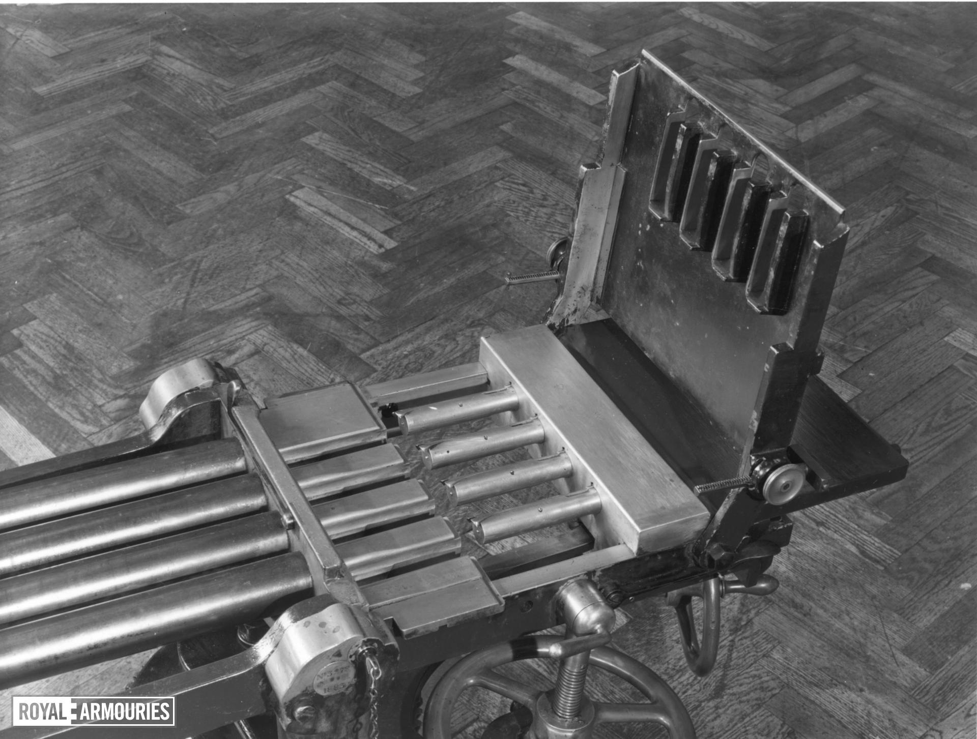 Centrefire hand operated machine gun - Nordenfelt