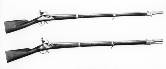 Flintlock muzzle-loading musket