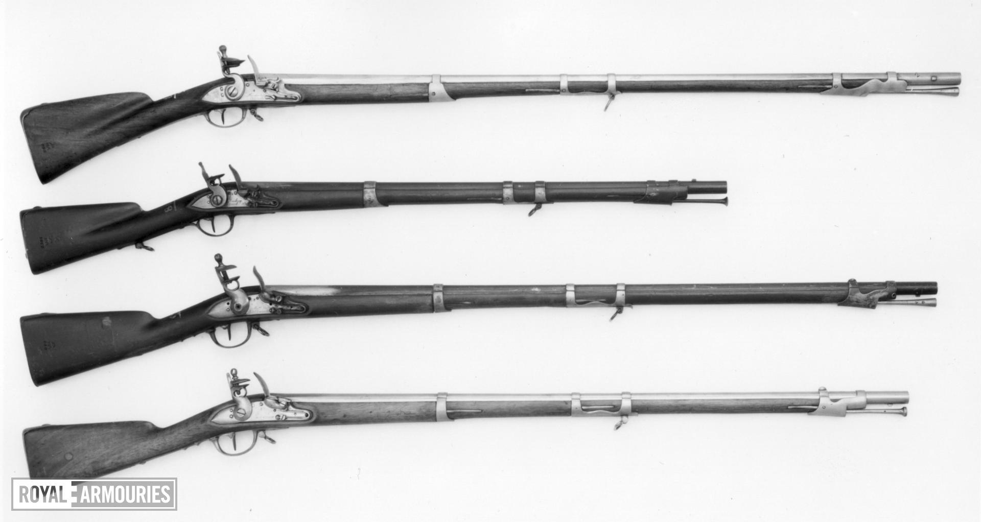 Flintlock muzzle-loading musket - Model 1777 An. IX Dragoon Musket