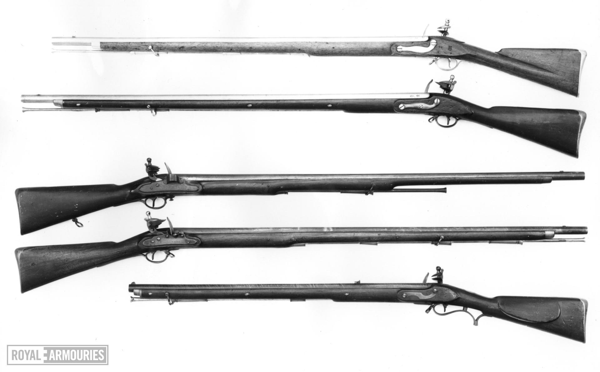 Flintlock muzzle-loading military musket - Duke of Richmond's 2nd Model Rammer to butt with standard Nock lock