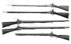 Thumbnail image of Flintlock muzzle-loading military musket - Duke of Richmond's 2nd Model Rammer to butt with standard Nock lock