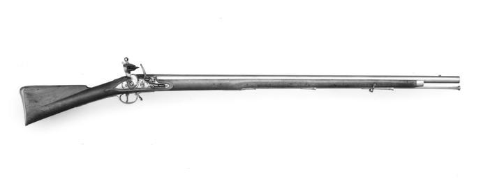 Flintlock muzzle-loading military musket