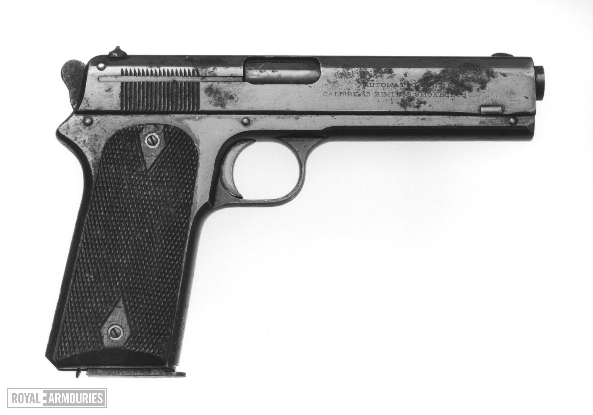 Centrefire self-loading military pistol - Colt 1911 A1 By Remington Rand.