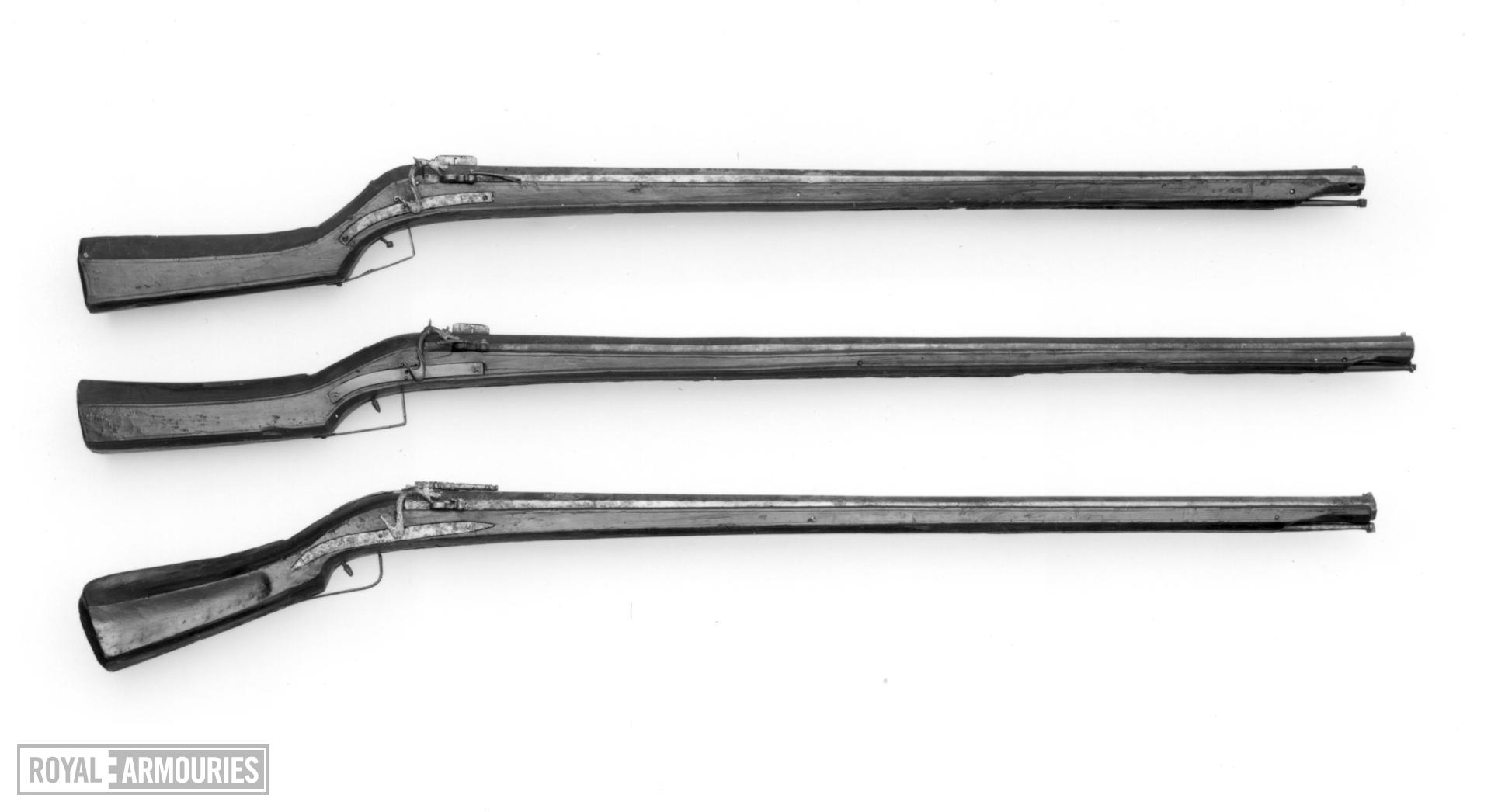 Matchlock muzzle-loading musket Made in Gardone, Brescia