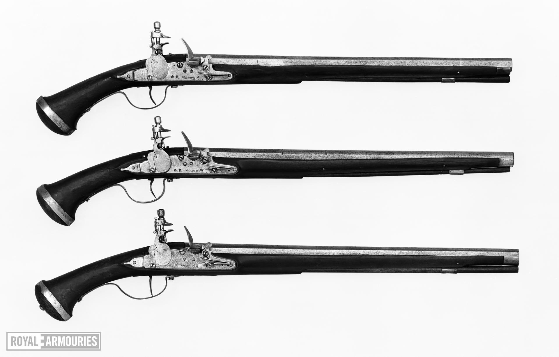Flintlock pistol By Murden Littlecote collection