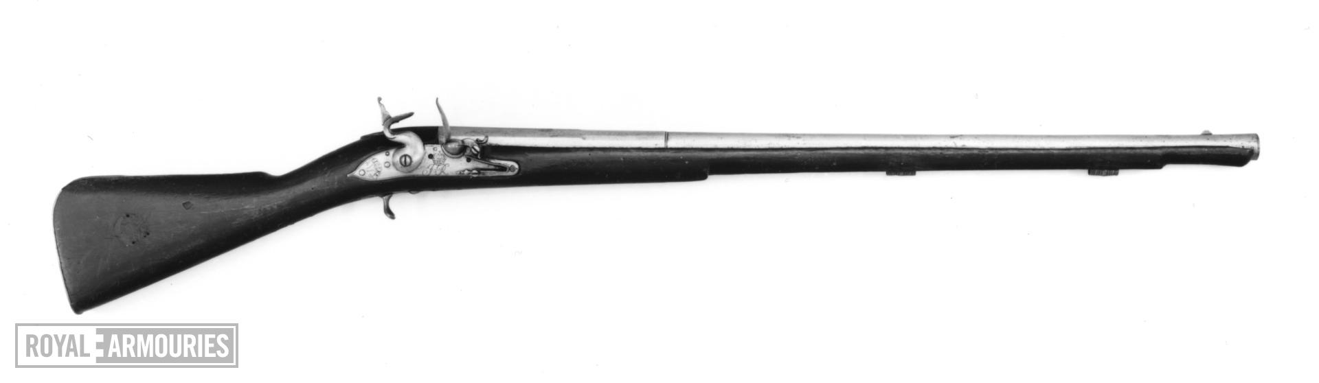 Flintlock muzzle-loading cavalry carbine - James II Pattern
