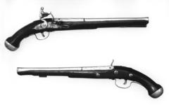 Thumbnail image of Flintlock holster pistol - Service Type By Robert Brooke One of a pair; see XII.742