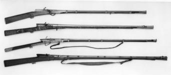Thumbnail image of Matchlock musket (toradar) with a tiger headed muzzle