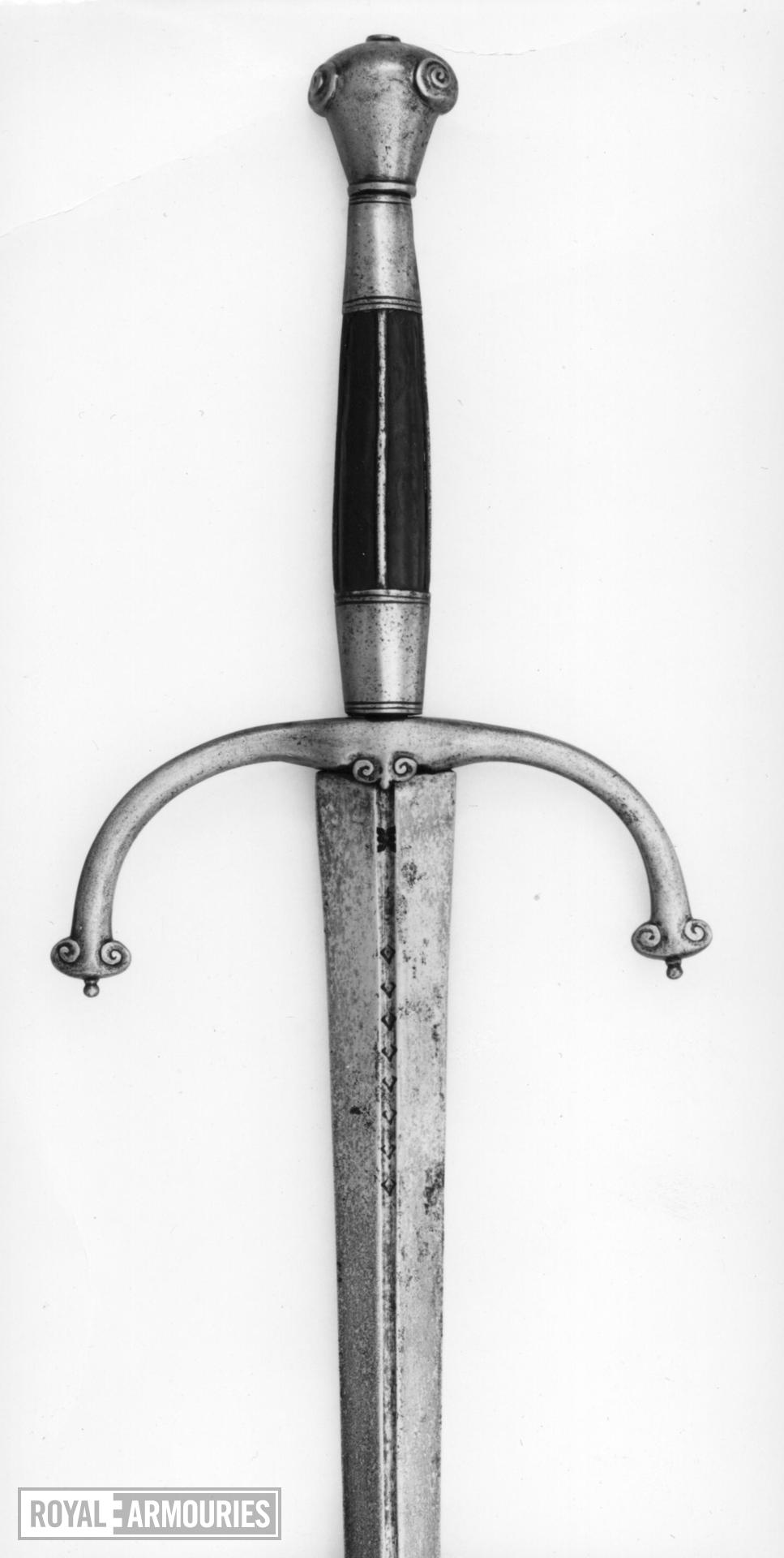 Sword and scabbard Hand and a Half sword (A) and scabbard (B)