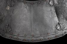 Thumbnail image of Crupper From the silvered and engraved armour of Henry VIII. By Guille Margot, decorated by Paul van Vrelant.