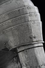 Thumbnail image of Left pauldron - Left pauldron Pauldron of the tonlet armour of Henry VIII.