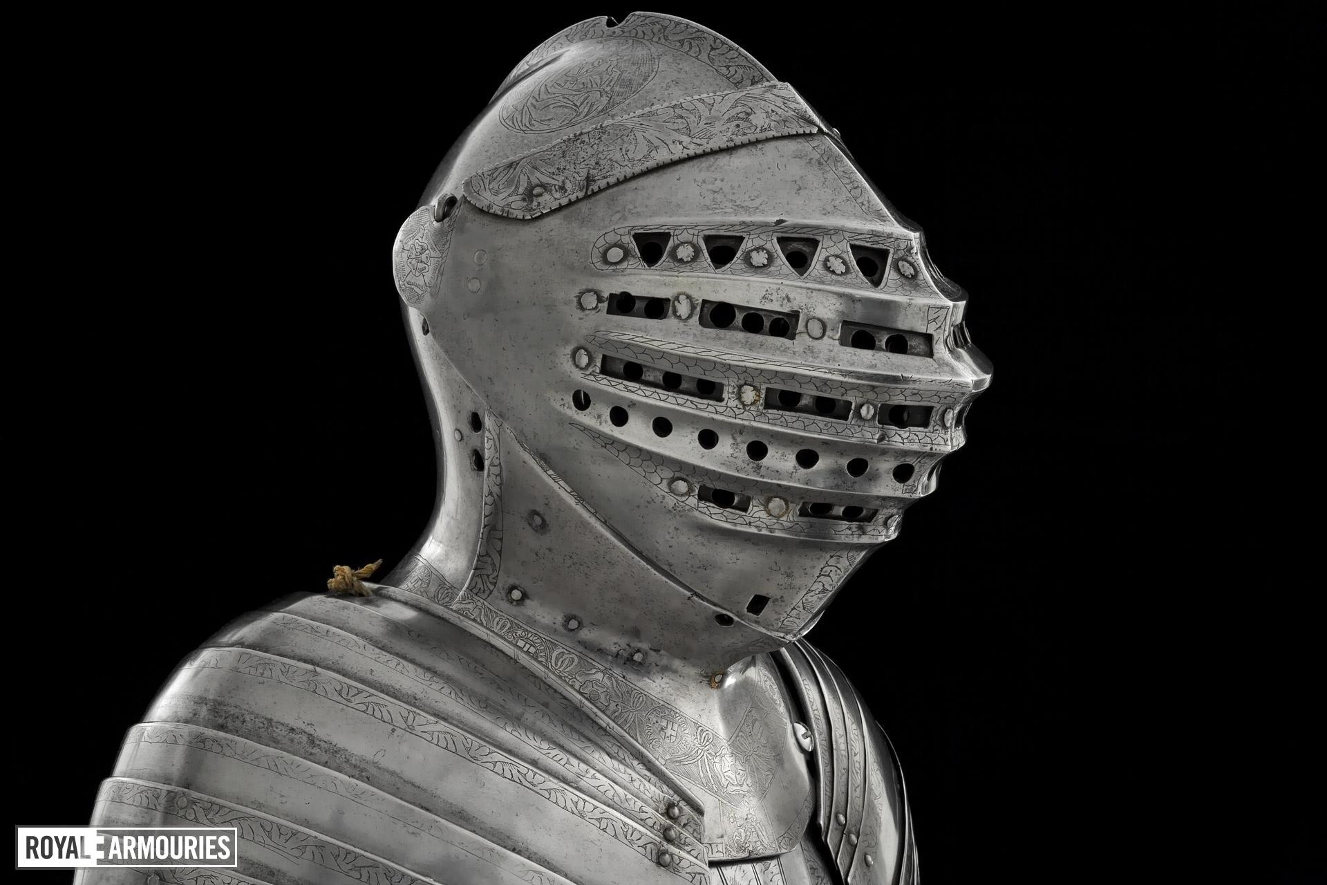 Great Bacinet - Great Bacinet The Tonlet armour of Henry VIII, modified from a Milanese bacinet of about 1500.