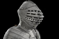 Thumbnail image of Great Bacinet - Great Bacinet The Tonlet armour of Henry VIII, modified from a Milanese bacinet of about 1500.