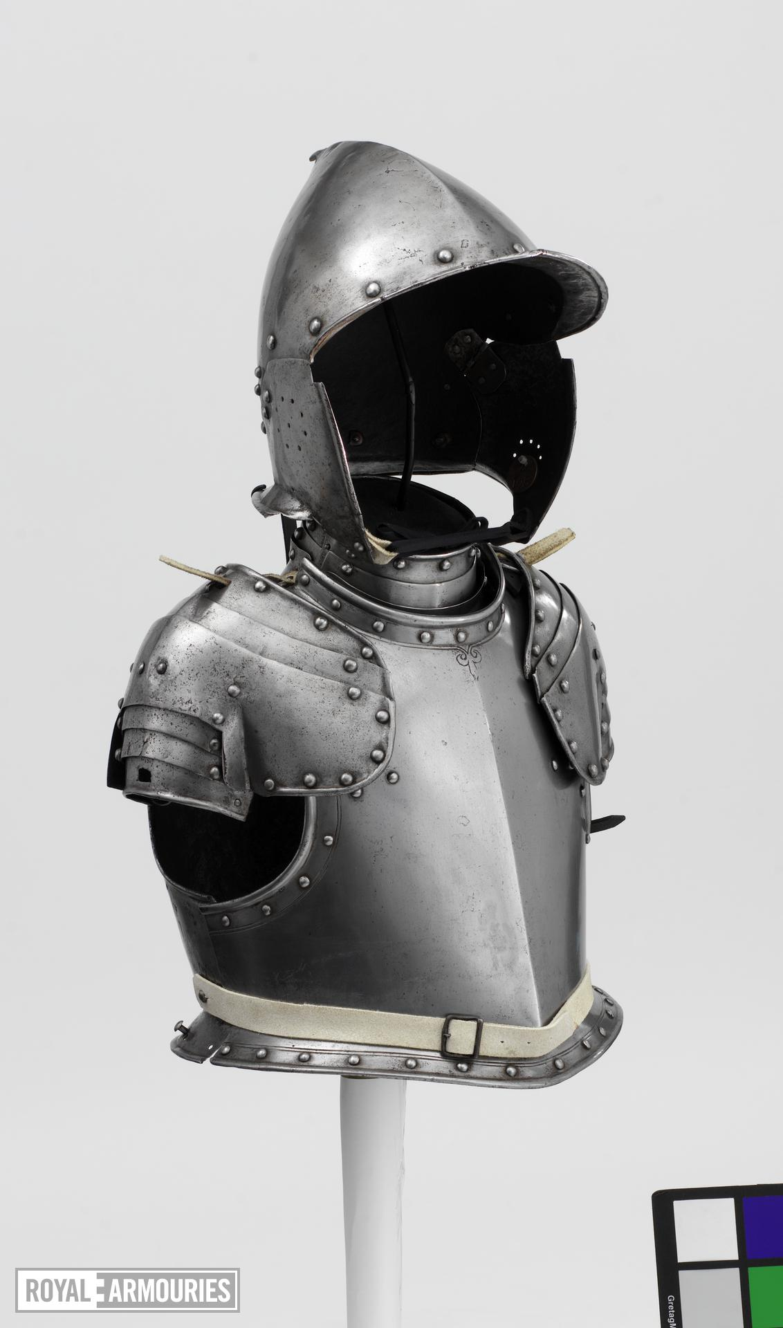 Composite armour for a boy