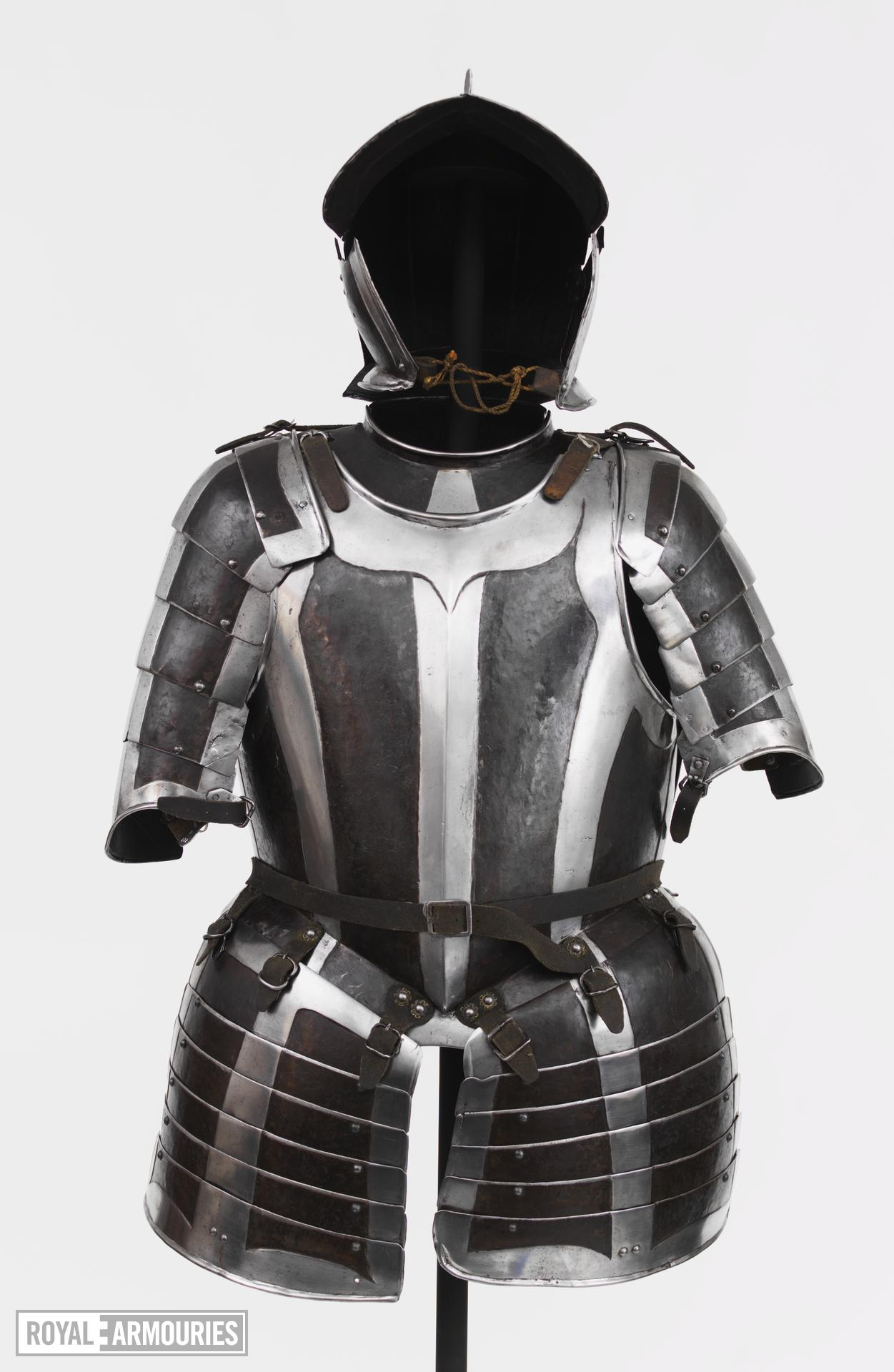 Half armour black and white