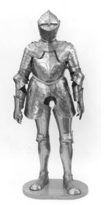 Thumbnail image of Field armour composite, embossed with fleur-de-lys, with modern additions