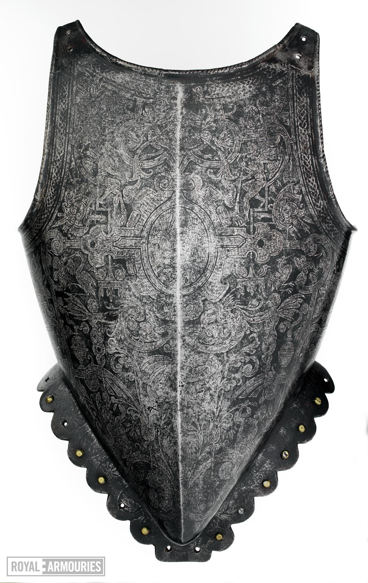 Breastplate. Probably Flemish, about 1583. Made by Adrian Collaert (III.1218)