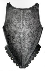 Thumbnail image of Breastplate. Probably Flemish, about 1583. Made by Adrian Collaert (III.1218)