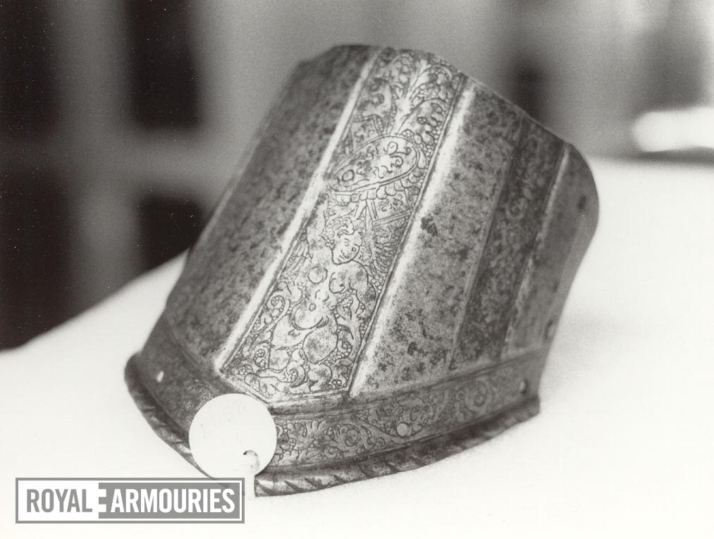 Pauldron lame The lowest lame from pauldron. Possibly from a boys armour.