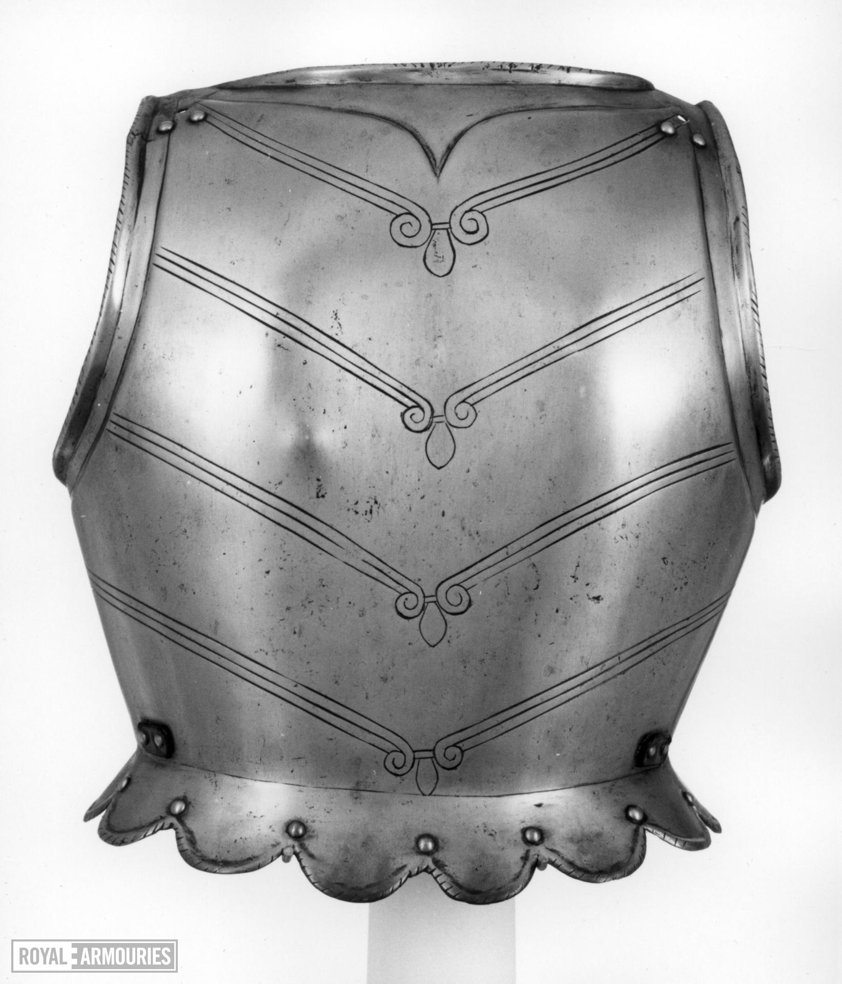 Backplate From a corslet