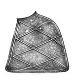 Thumbnail image of Shoulder shield For the Plankengestech, from the Rose-leaf garniture of the Emperor Maximilian II, made by Franz Grosschedel.