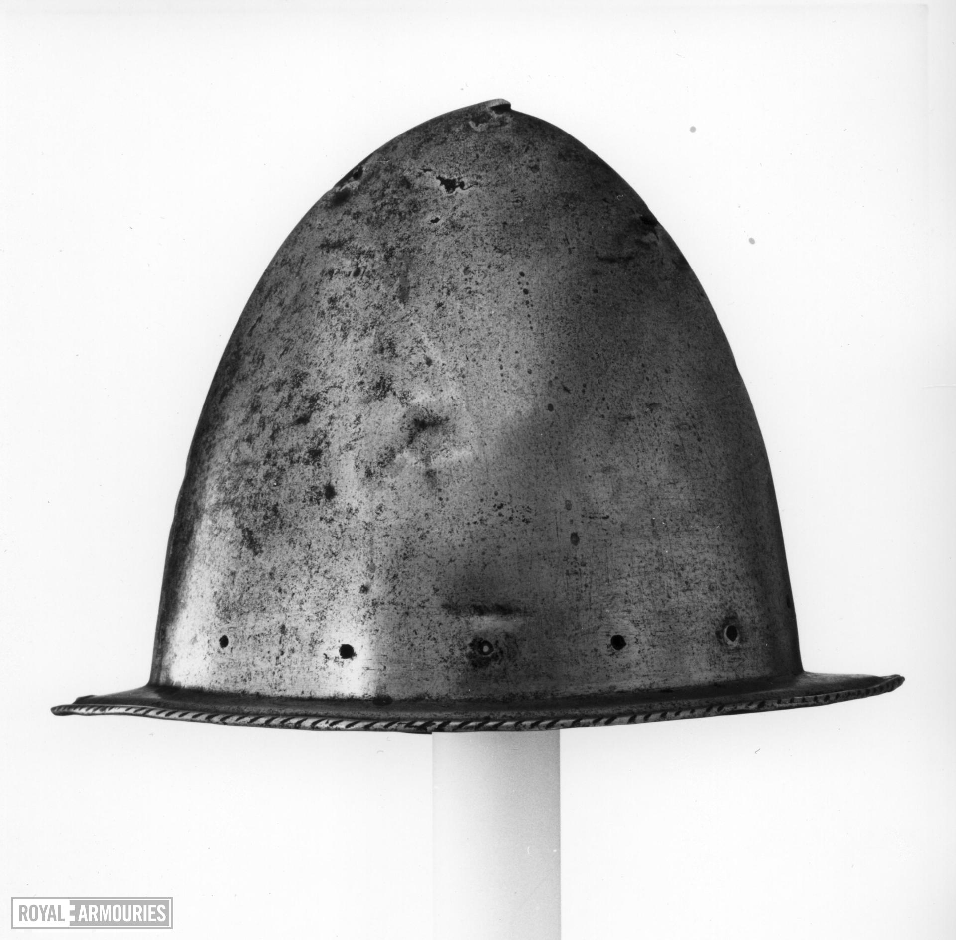 Spanish morion From a corslet.