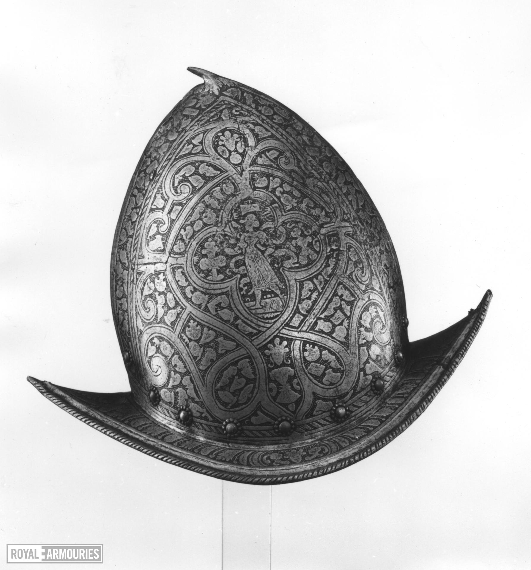 Spanish morion From a corslet