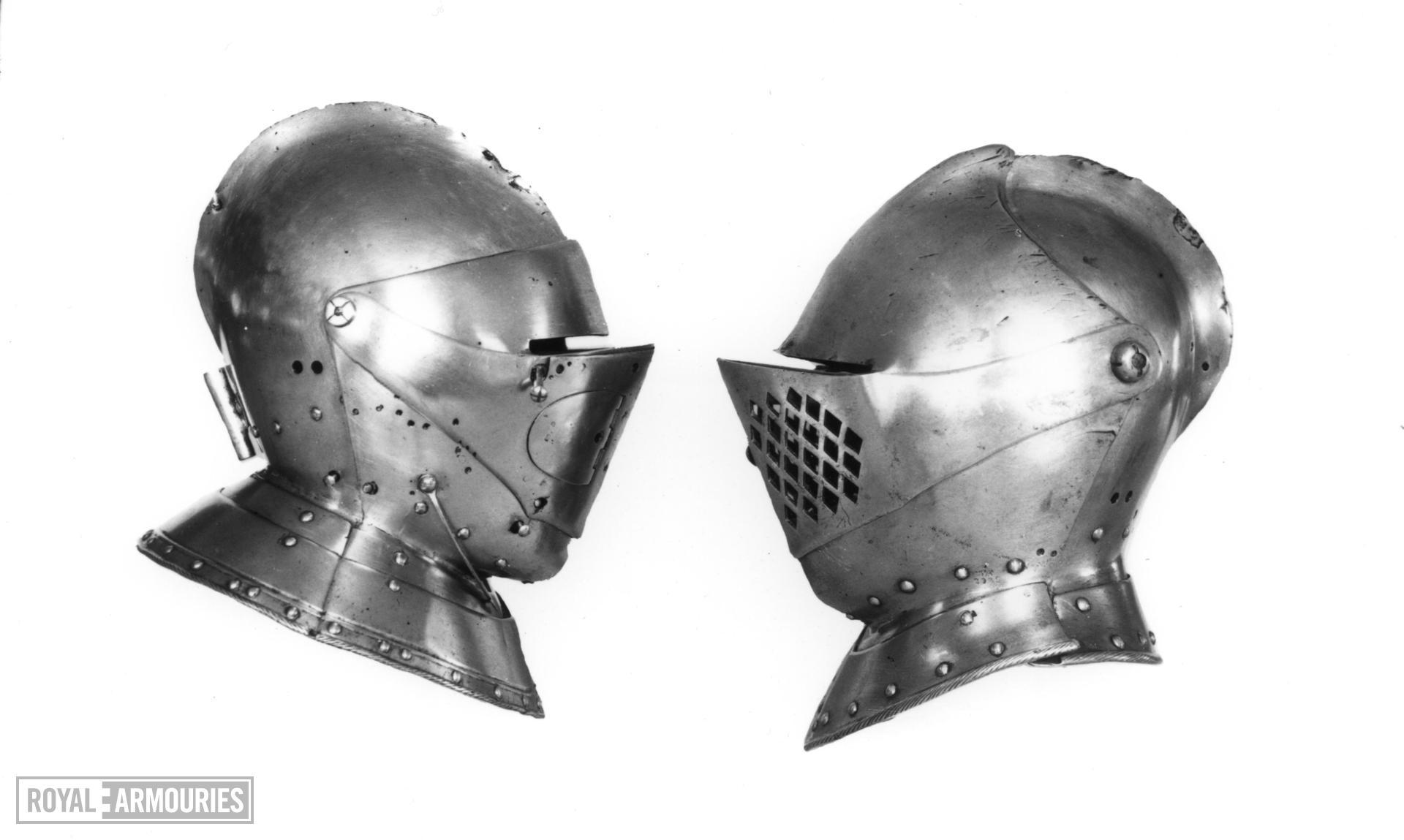 Close helmet For field and tilt by Jakob Toft for Archduke Ferdinand II
