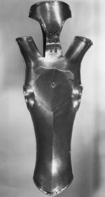 Thumbnail image of Shaffron Crinet plate attached and escutcheon spike.