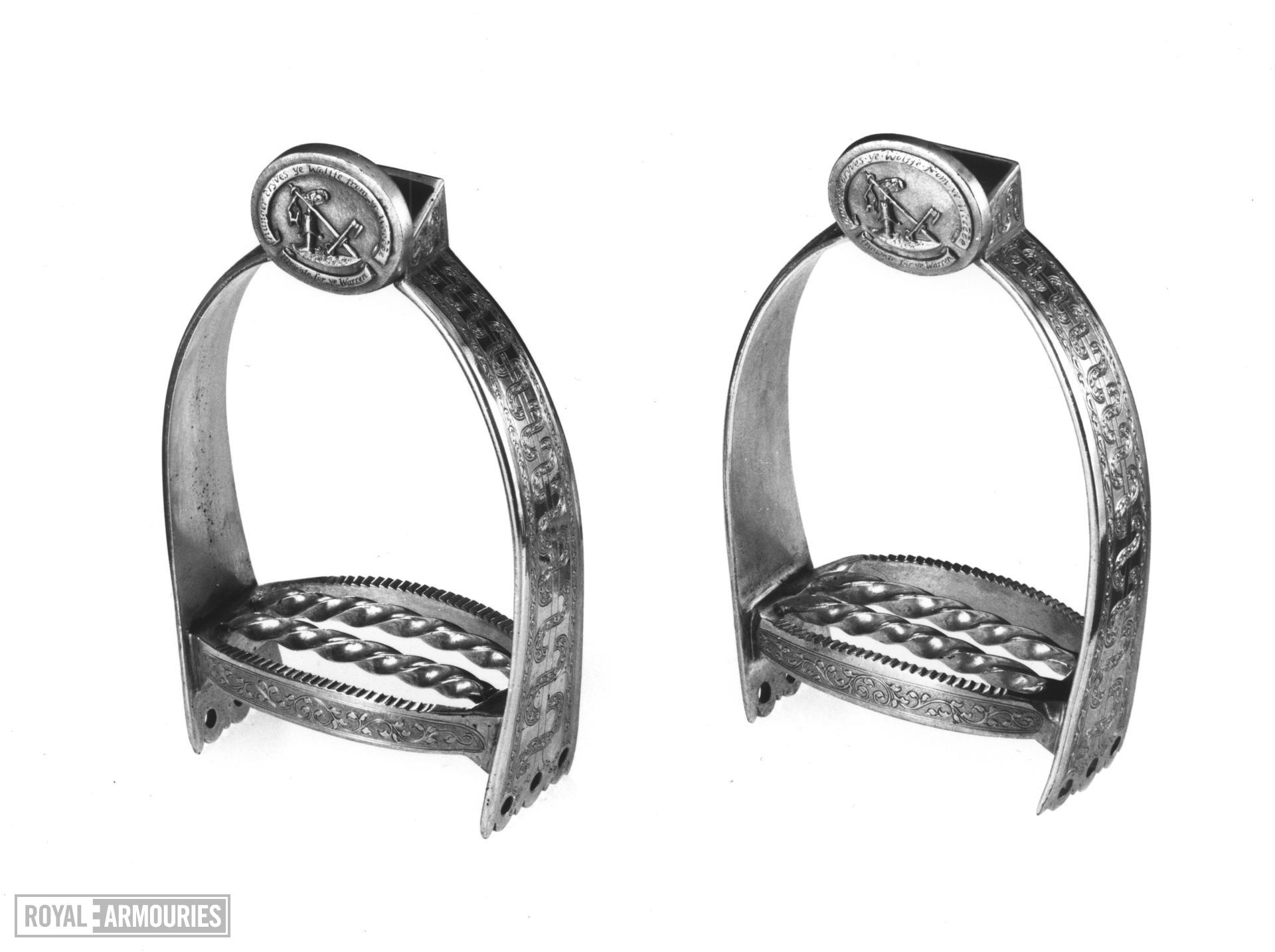 Stirrup Presentation stirrup, for the Earl of Lonsdale. A pair to VI.435 B.