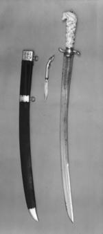 Thumbnail image of Sword and scabbard Hunting sword and scabbard