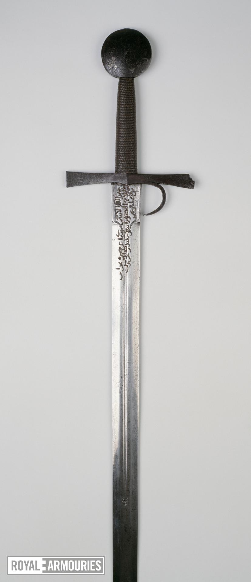 Sword Sword, hilt with finger guard and with the date 1432; blade Oakeshott type XIX; pommel Oakeshott type G; cross-guard Oakeshott type 5, probably Italian