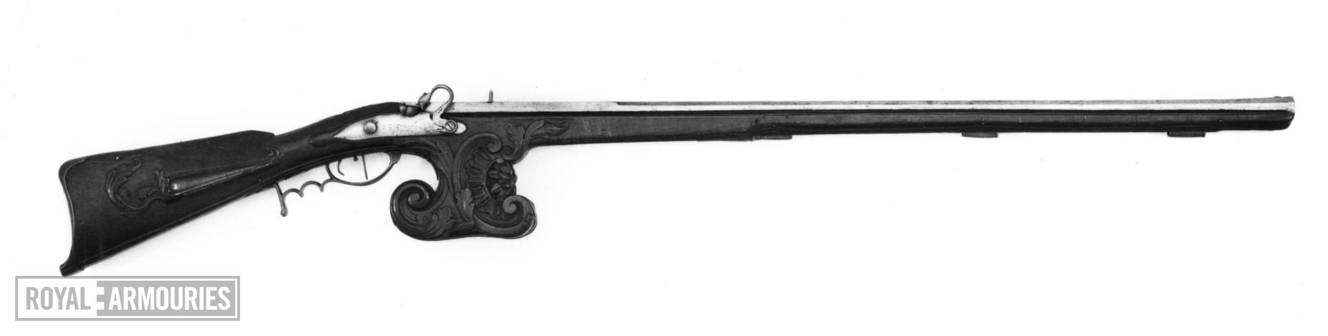 Matchlock muzzle-loading target gun - By E. G. Siaens