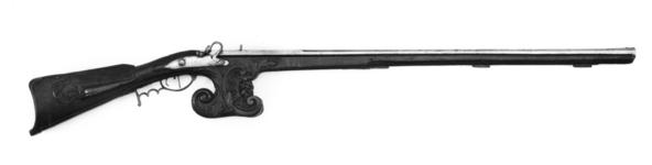 Thumbnail image of Matchlock muzzle-loading target gun - By E. G. Siaens