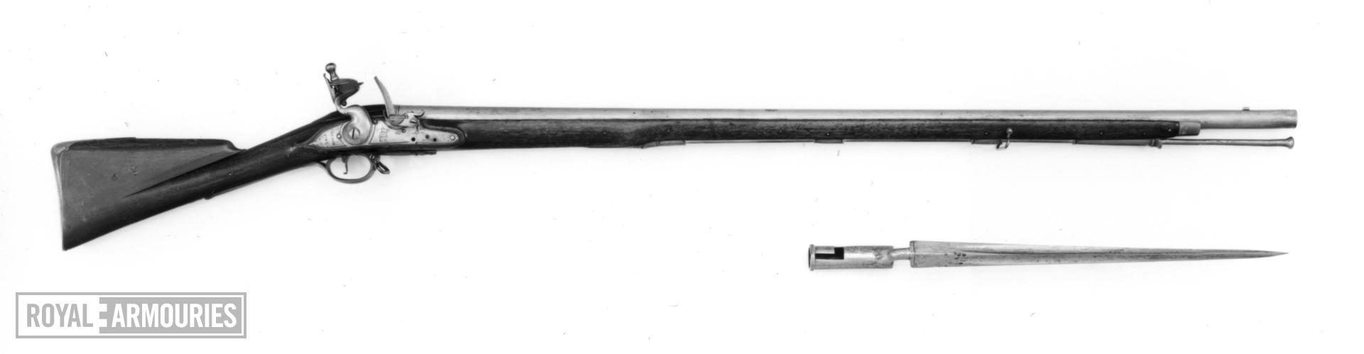 Flintlock muzzle-loading musket - Pattern 1759 Militia New Musket, pattern sample Pattern weapon but not sealed By Farmer