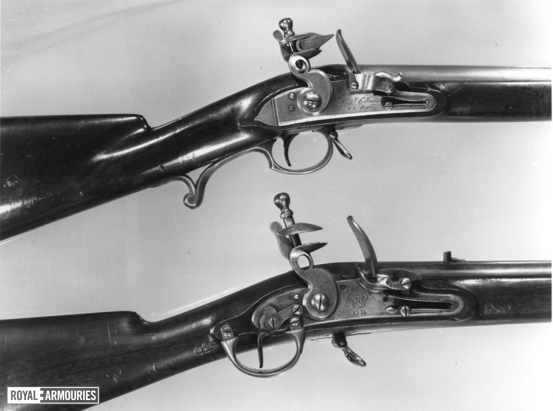 Flintlock muzzle-loading military musket - Gillmore's Pattern