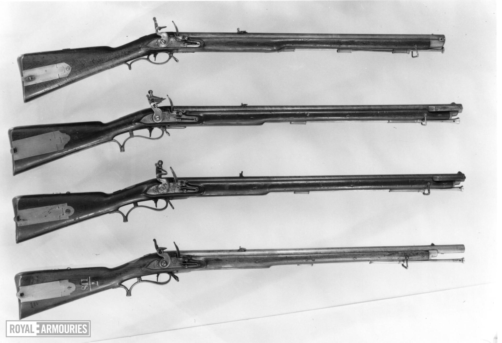 Flintlock muzzle-loading rifle - Baker Rifle