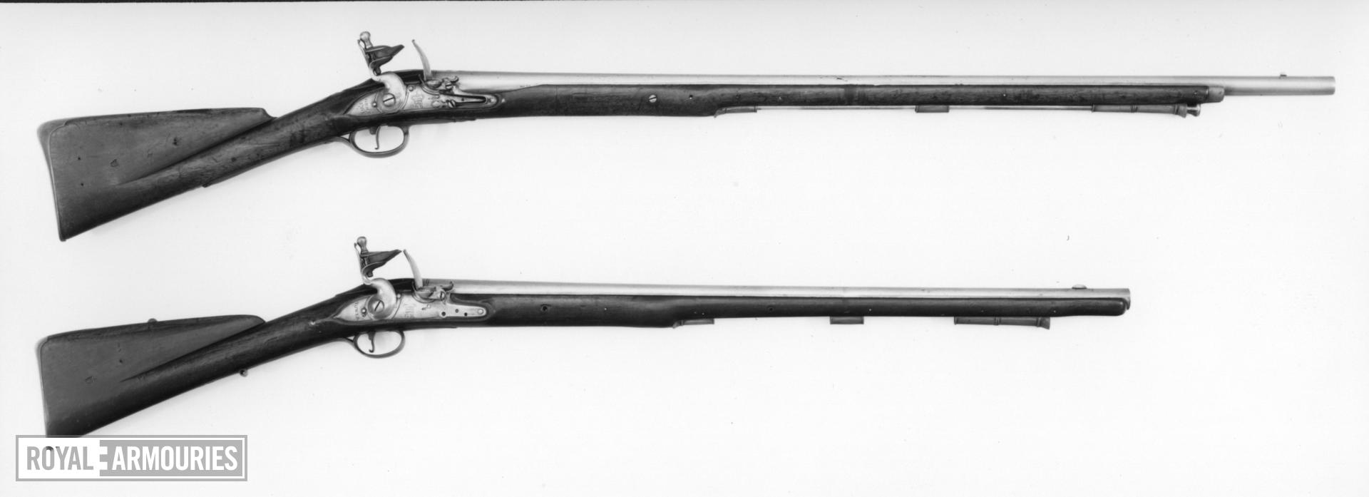 Flintlock muzzle-loading military carbine - Pattern 1756 Light Dragoon by Grice