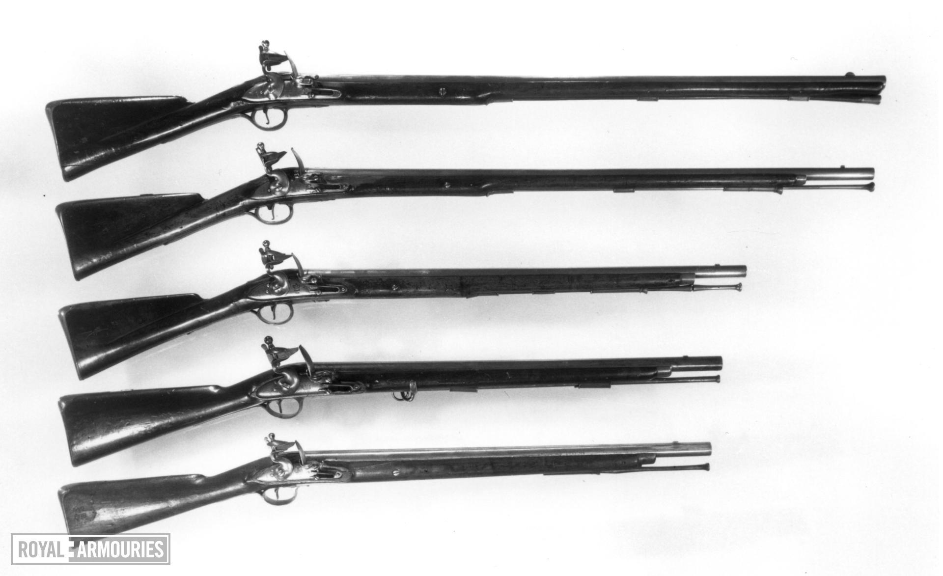 Flintlock muzzle-loading military carbine - Pattern 1756 Light Dragoon