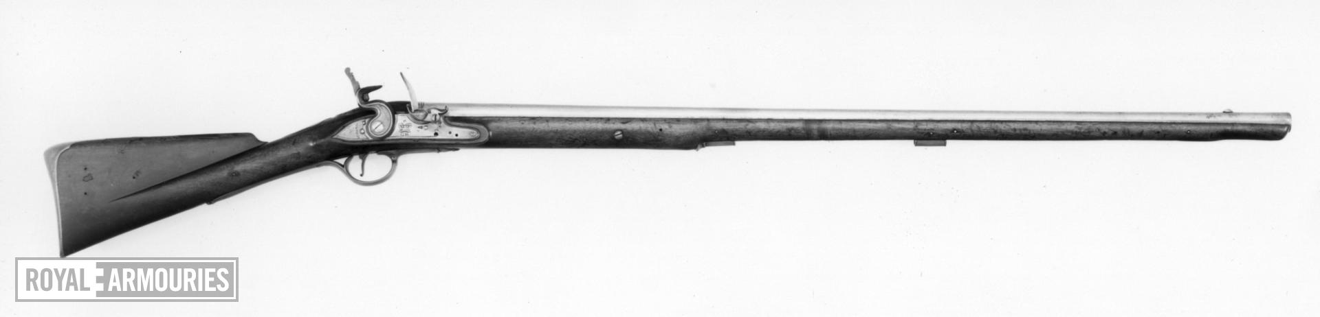Flintlock muzzle-loading military carbine - Pattern 1756/77 Royal Horse Guards (Blues)