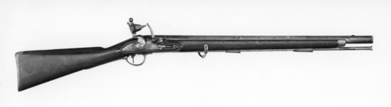 Thumbnail image of Flintlock muzzle-loading military carbine - Pattern 1796 Dragoon Late variant lock