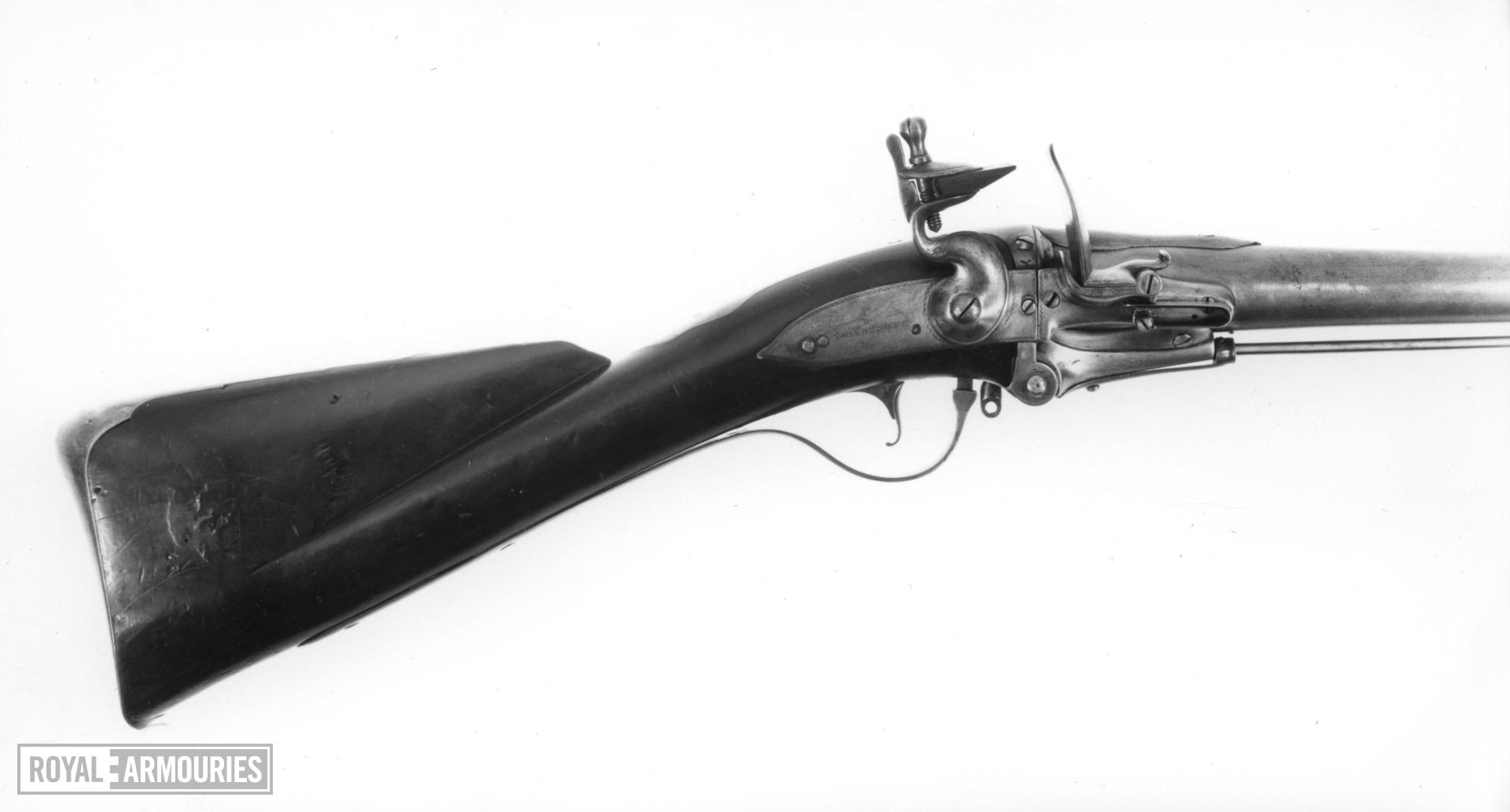 Flintlock breech-loading military musket - By Richard Wooldridge