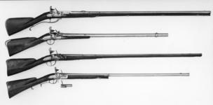 Thumbnail image of Flintlock breech-loading gun Sporting gun with removeable chambers