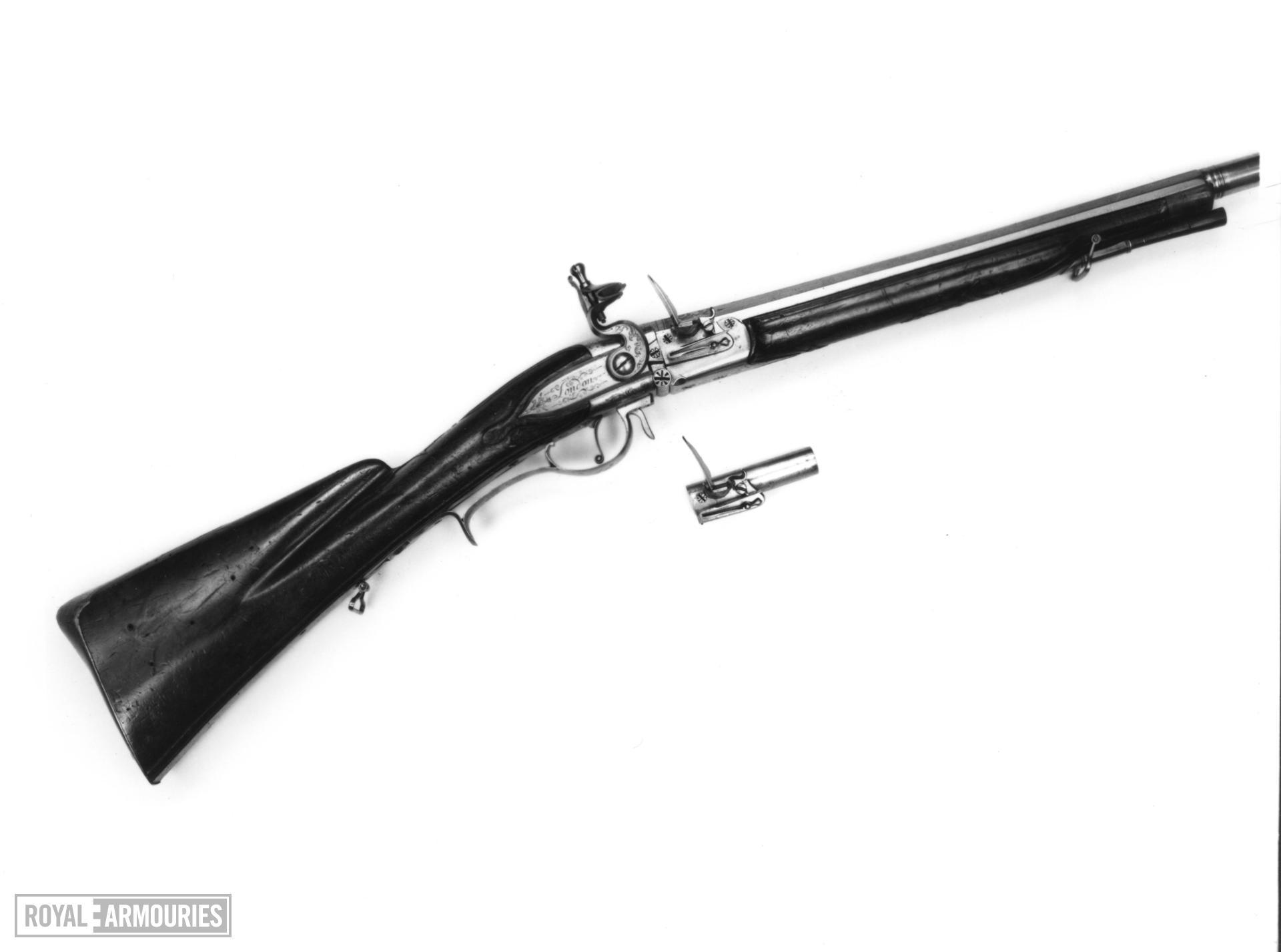Flintlock breech-loading gun - N/A
