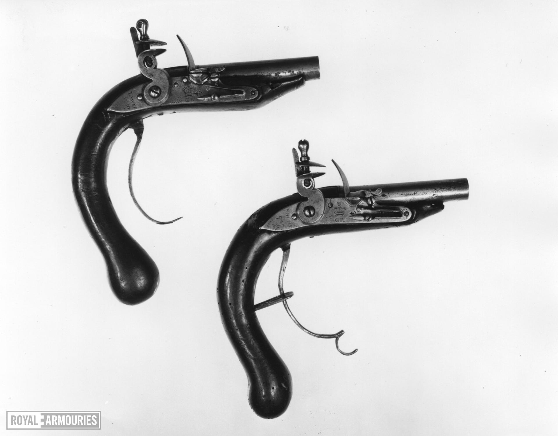 Flintlock muzzle-loading pistol - By Tower
