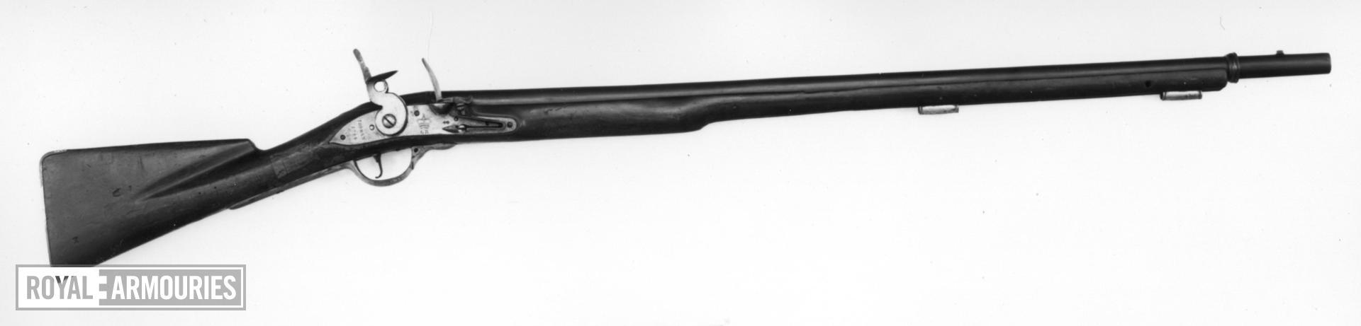 Flintlock muzzle-loading military musket - Pattern 1738 Black (Short) Sea Service