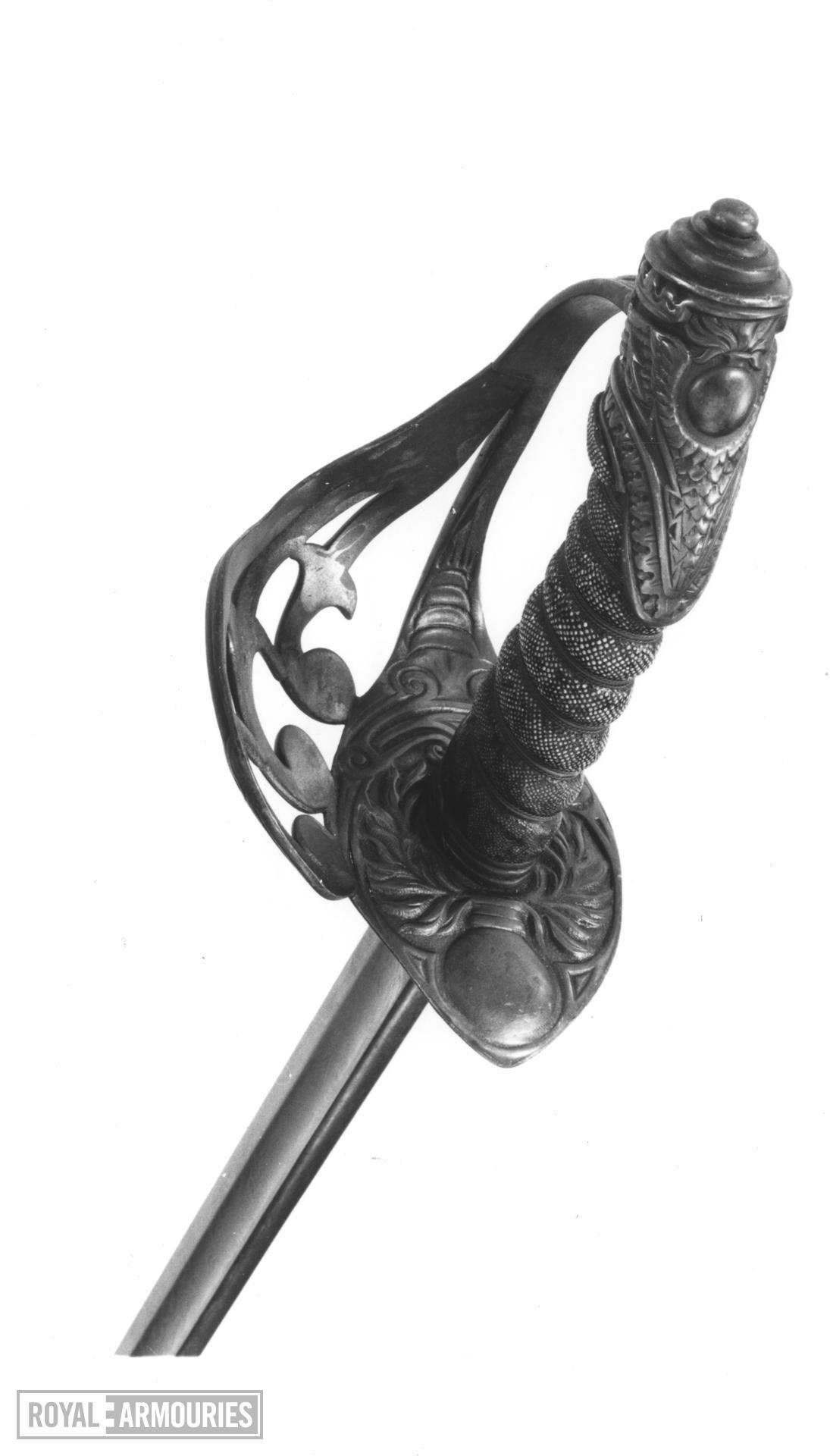 Sword Officer's dress sword, 2nd Life Guards, Pattern 1834.