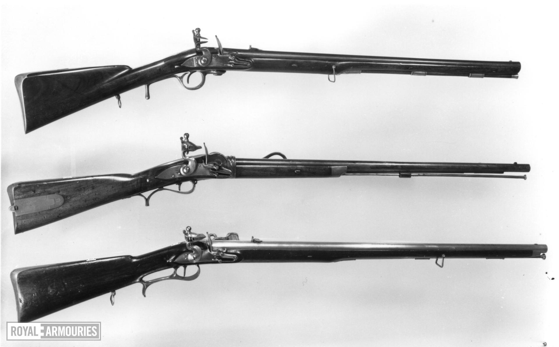 Flintlock breech-loading rifle - Hulme's Rifle