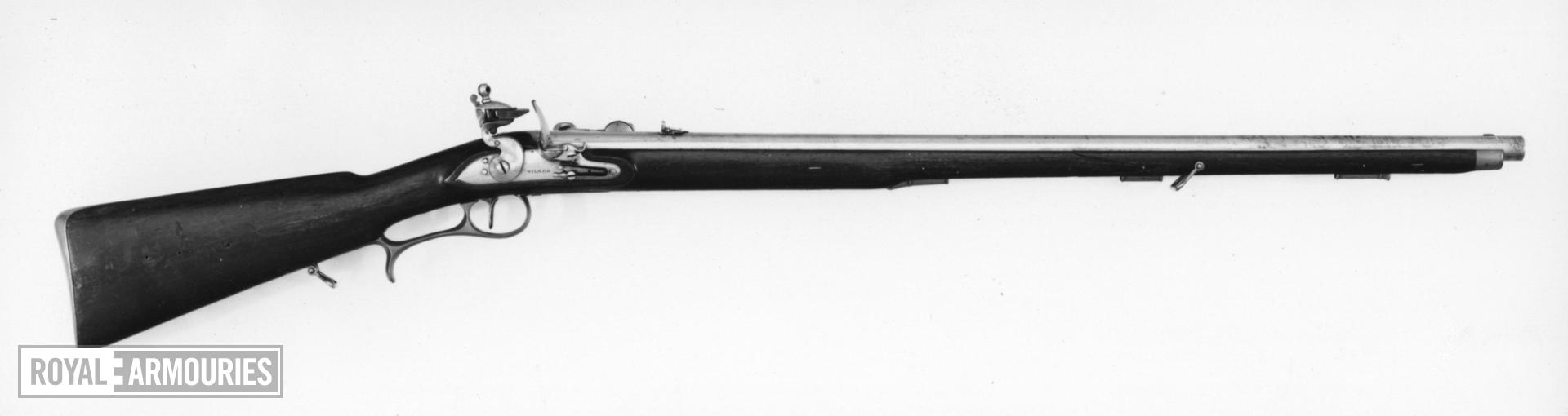 Flintlock breech-loading rifle - By James Wilkes